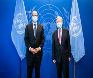 وزير الخارجية الموريتاني يلتقي  بالأمين العام  للأمم المتحدة